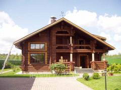 Las casas los cortes de madera