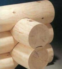 The logs rounded