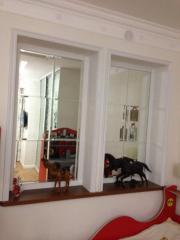 Псевдо-окно,  фацетированное зеркало