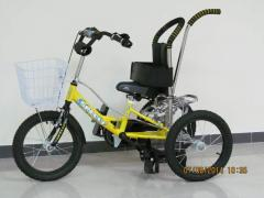 Bicycle for boys with cerebral palsy, orthopedic