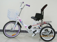 Pillow bicycle for a child with cerebral palsy