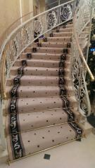 Carpets for ladders production and installation