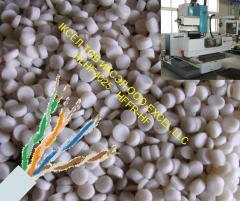 Raw materials for production of coaxial cables