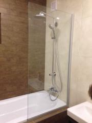 Shower curtain glass