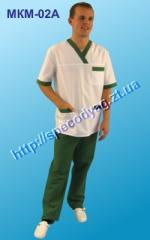 Suit for the medical sphere of MICRON 02 and