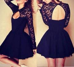 Кружевное вечернее платье черный цвет
