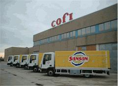 Trucks refrigerating for transportation of the