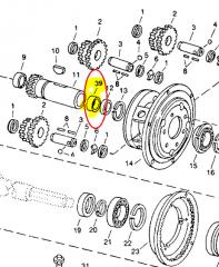 Quill roller bearings of JD AH150686 John Deere