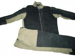 Костюм брезентовый со спилком, защитная одежда