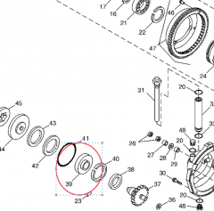 The H165463 bearing for the John Deere 9660