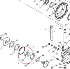 The H165463 bearing for the John Deere 9660