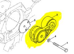 Tension device for JD RE518097 Ukraine bel