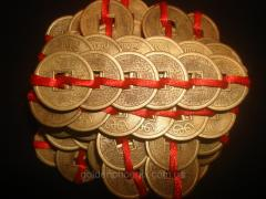 Coins feng shui on 6 under bronze 21