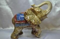 Figurine Elephant hair dryer-shuy ceramics