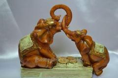 Feng shui goods Two Elephants on money