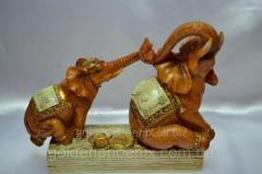 Figurine Elephants on money