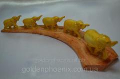 Feng shui goods Five elephants in way