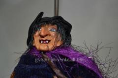 Nested doll Grandma Ezhka (lilac raincoat)