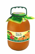 Apple-apricot juice in the tank