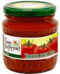Tomato paste, tomato sauce