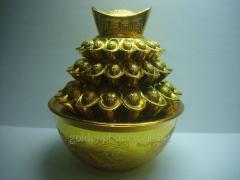 Gore's bowl of ingots of wealth (9kh10sm)