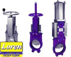 Knife gate valves