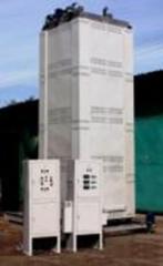 Zvýšená elektrická pec SEOA-11,5.11,5.45/6 I2 s ventilátorem. Teplota do 600 gr Pr. Bortek, Borispol, Ukrajina. Pro temperování a temperování výrobků z hliníku a jeho slitin.