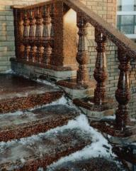 Porch from granite