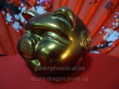 Копилка-статуэтка Хрюша из метала