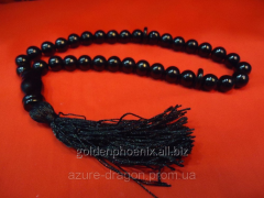 Beads from black agate