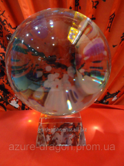 Souvenir Crystal sphere of predictions of d=14sm