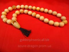 Beads from a juniper