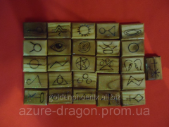 Runes of angels from a tree an apric