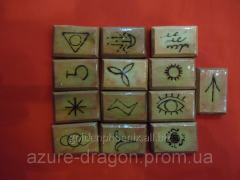 Runes of angels from an apric