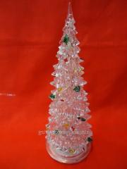 Fir-tree decorative desktop blinking 14 cm high