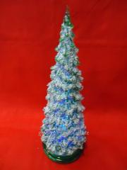 Елка декоративная настольная мигающая высотой 19