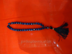 Beads from cut lazurite