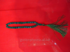 Beads from cut chrysoprase