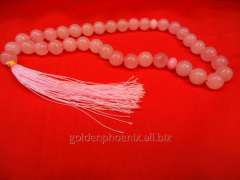 Beads from pink quartz