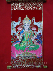 Panel from Lakshmi on a lotus