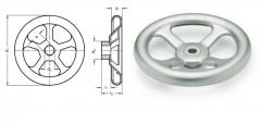 Flywheel of GN 227.2-A, INOX