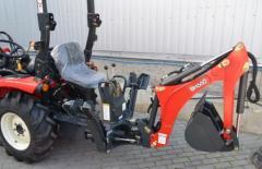 Экскаватор задний BH66 на трактор Branson красный
