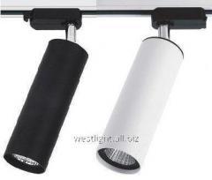 Track LED 12W lamp black/white, tire lamp