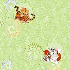 Wall-paper paper (simplexes) / Tiger cubs /