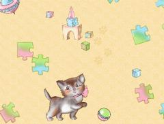 Wall-paper paper (simplexes) / Kittens / Article