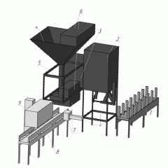 Automatic machine for charcoal packing