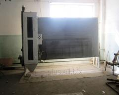 Sanding chamber for glass processing