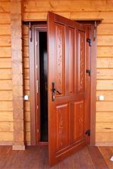 Двери входные домовые. Двери входные деревянные.