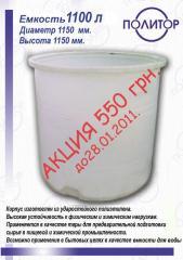 Емкости из пластика для пищевой и химической