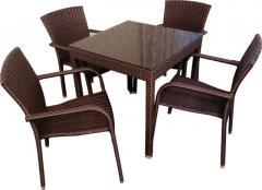 Комплект обеденный Мадрид-1 (1 стол+ 4 кресла)
